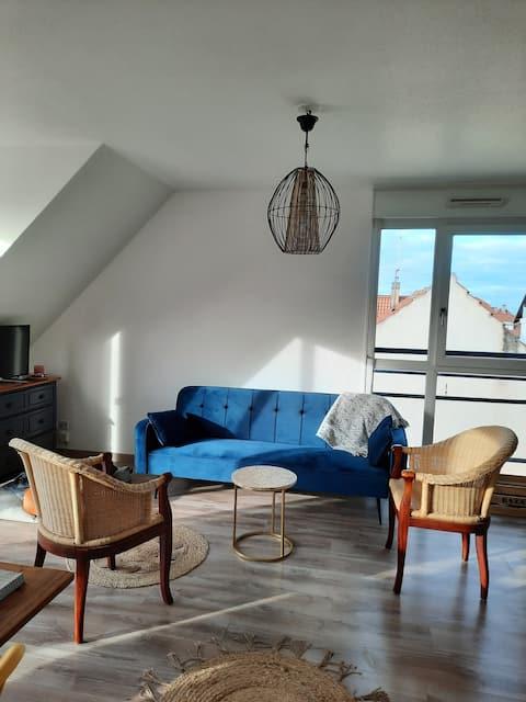 Chambre privée dans logement accueillant