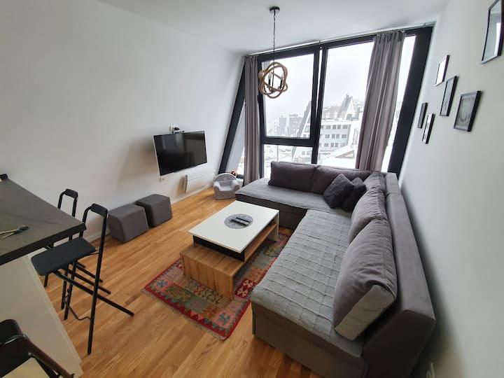 Apartment Dalia with view and ski storage