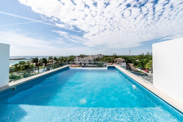 Villa Amaité, Rostro del Cielo - Beach View Loft