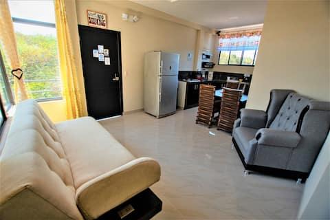 Apartamento moderno con vistas a la bahía, a 5 minutos a pie del mar