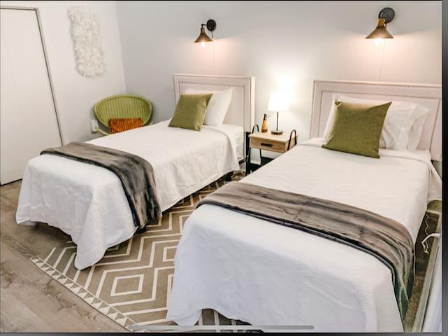 Bonus bedroom upstairs with 2 single beds
