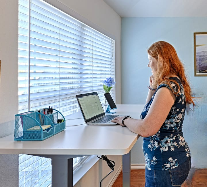 Private Office with Standing Desk!