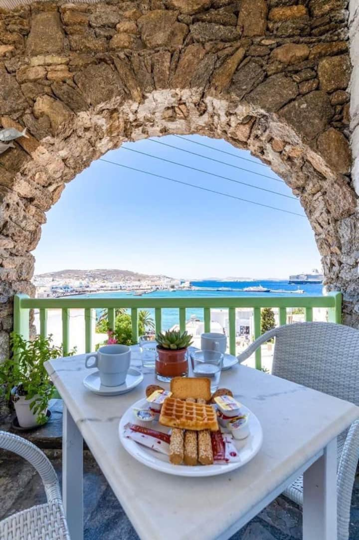 Mykonos Town Sea & Sunset view-Breakfast Included