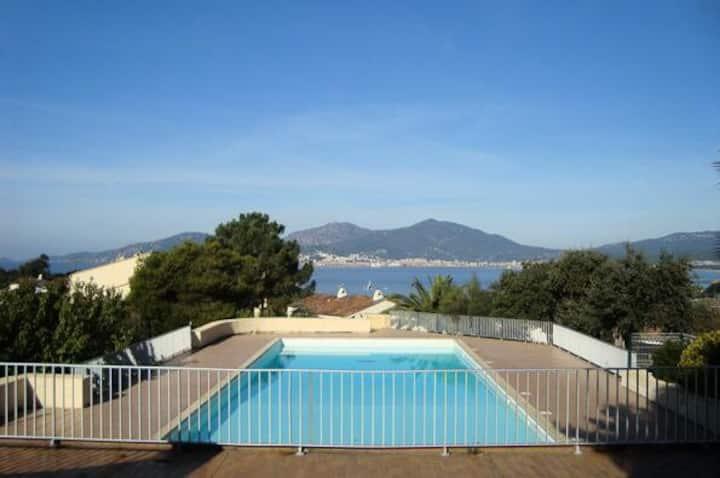 Studio vue mer à Porticcio proche aéroport Ajaccio