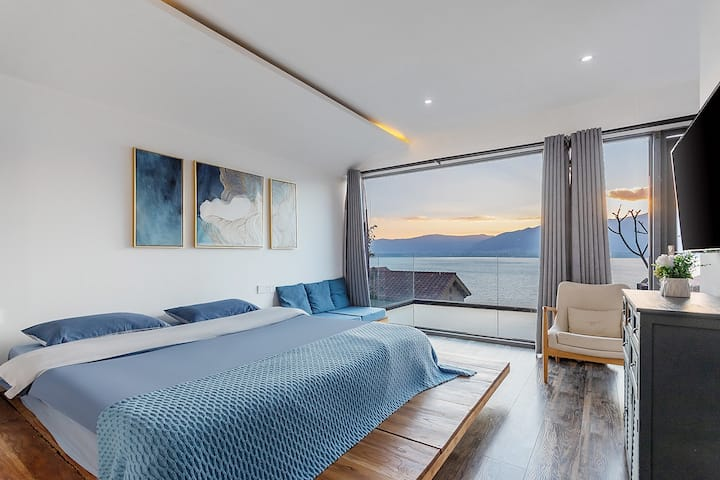 高品质全海景浴缸大床房/露天阳台—有早餐/可接送—多个超大公区任意看海
