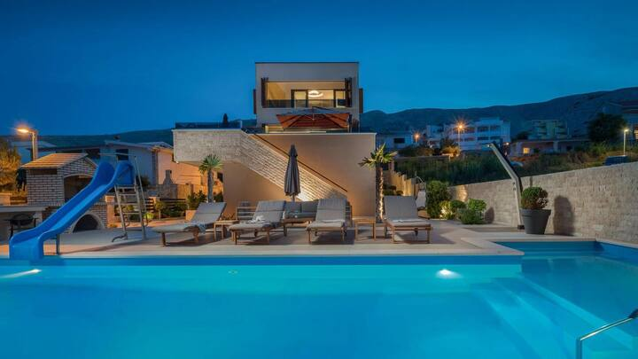 Luxus Villa Auf Der Insel Pag Mit Privat Pool
