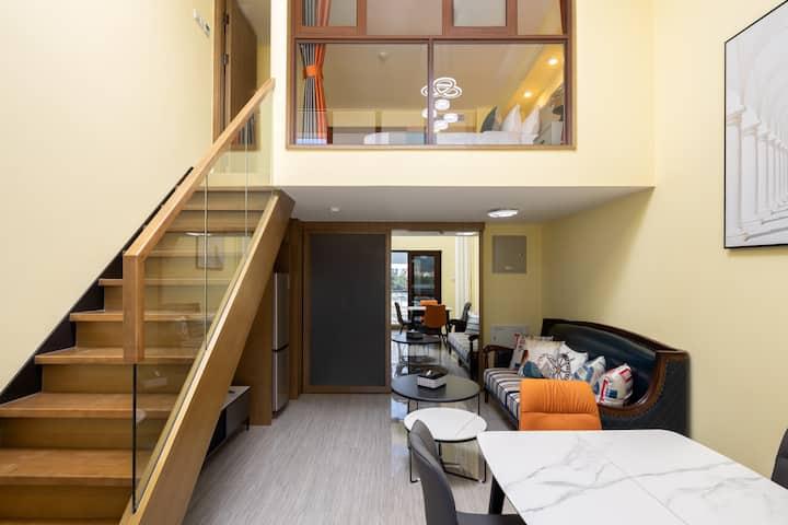 亚龙湾*温馨复式loft小一居室*奥特莱斯/森林公园/亚龙湾沙滩