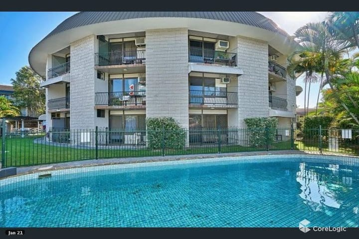 Just listed, two-bedder, pool, close to everything