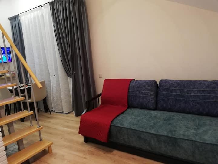 Двухуровневая квартира в Красной Поляне.