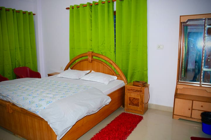 Cosy Bed rooms with heating and Aircon as per season attached toilets.