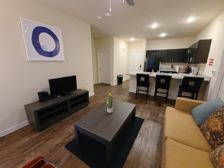 LUXURY APT: KING&QUEEN BRs + POOL/GYM/WINE