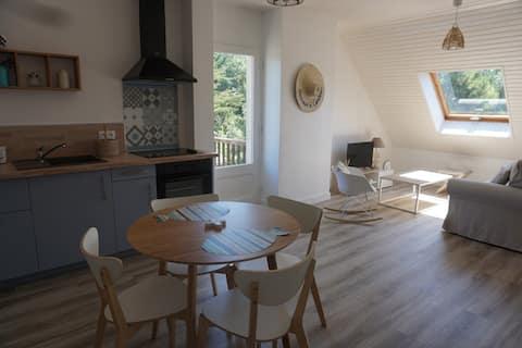 Carteret, appartement cosy  avec extérieur privé
