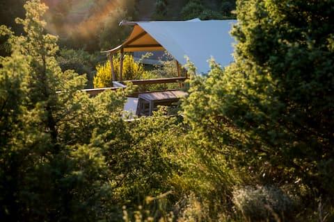 Séjour en lodge, pleine nature et piscine Lodge 2