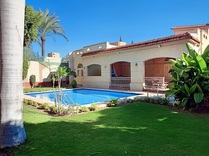 Spacious private oasis with pool and garden