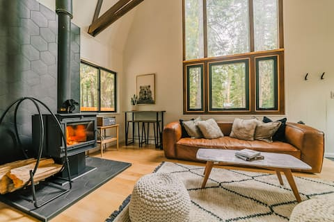 Hygge Barn Modern Cabin -湖まで徒歩5分