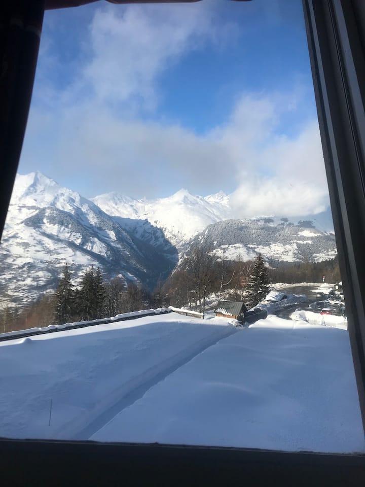 Arc 1600 - Appart à 20m des pistes - Vue Mt Blanc