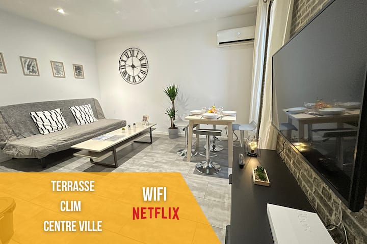Urban Chic By Anders - Terrasse❤Wifi❤Netflix❤Clim
