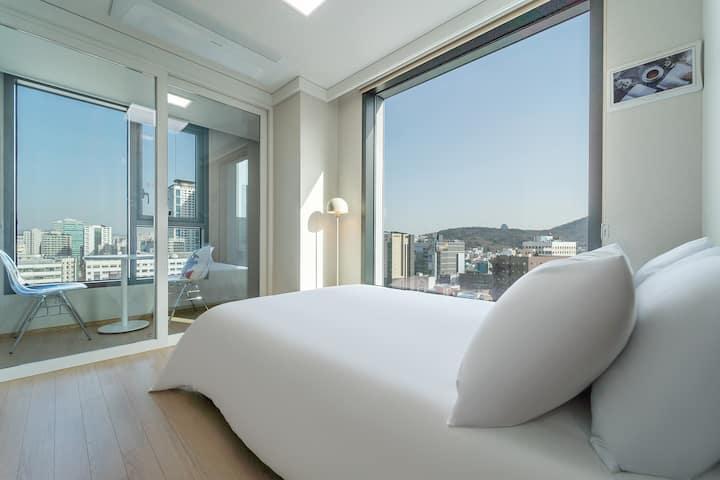 바스락바스락- 살균세탁한 호텔침구 위에서 따뜻한 꿀잠 (*´﹃`*) #침대맛집