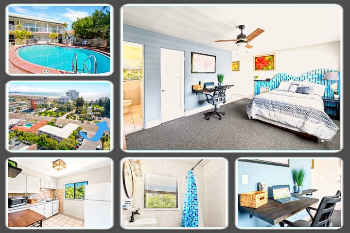 #5 Boutique Beach Retreat, Heated Pool, Prvt Room