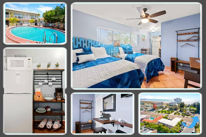 Boutique Beach Retreat, Heated Pool, Prvt Room #1