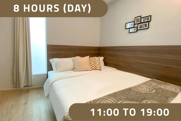 Double Room, 8 Hours: 11AM-7PM at Bugis MRT