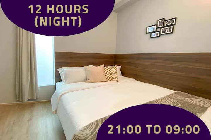 Double Room, 12 Hours: 9PM-9AM near Bugis MRT