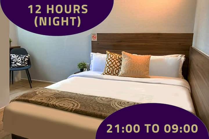 Double Room with Window, 12 Hours:9PM-9AM in Bugis