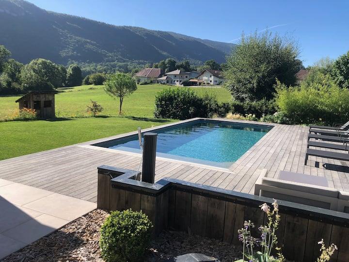 Magnifique villa avec piscine chauffée