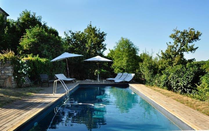 Le Vigneron - Terrace, Piscine, Vue, Calme