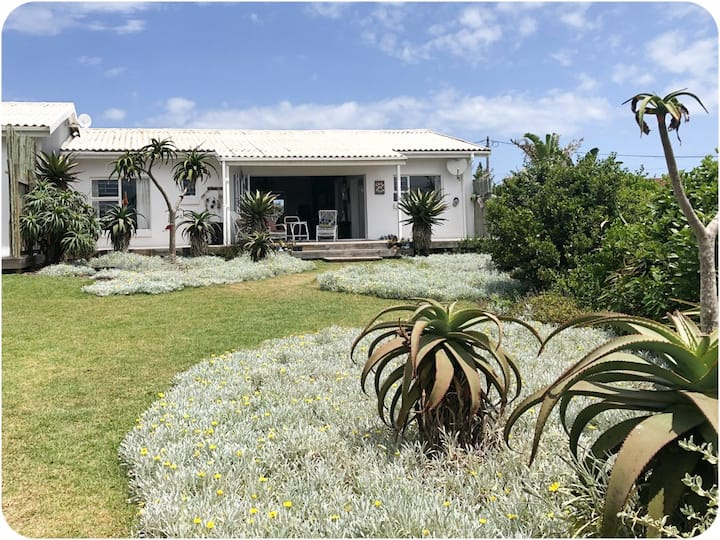 Idyllic cottage nestled  between surf and fynbos