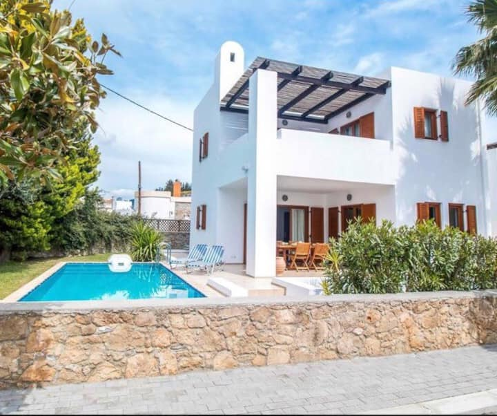 White Villas of Lardos no.1  in beautiful Lardos