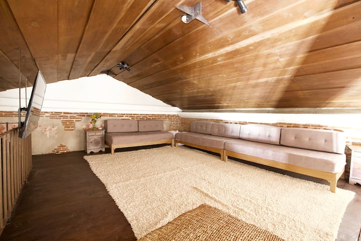 The Loft is also a lounge/TV room