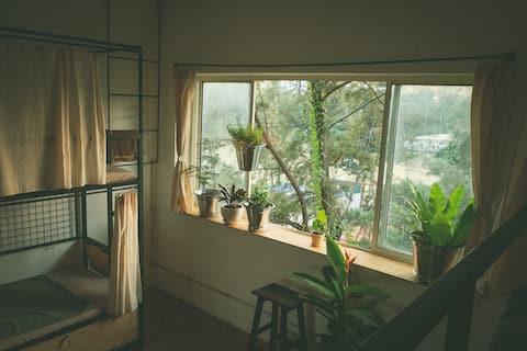Male Shared Dorm view sông ở bán đảo Thanh Đa 1pax