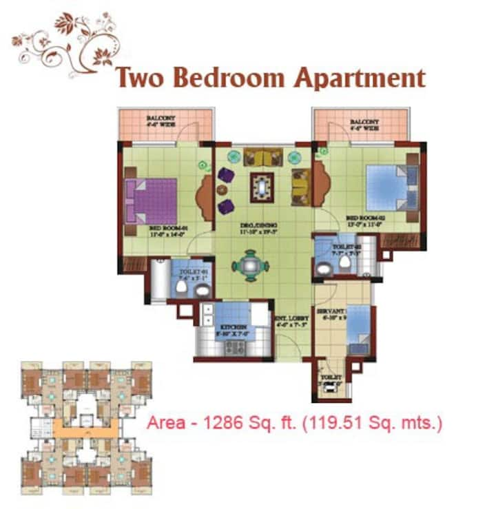 SHIMLA TOP LONG STAY 2 BHK FAMILY APARTMENT
