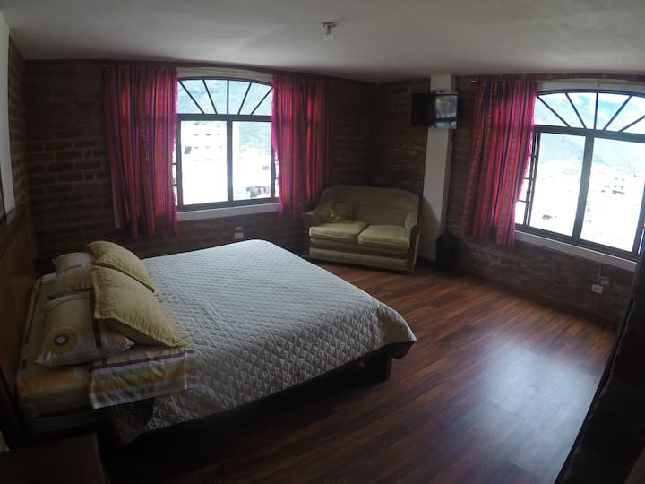 Private double room in travelers hostel