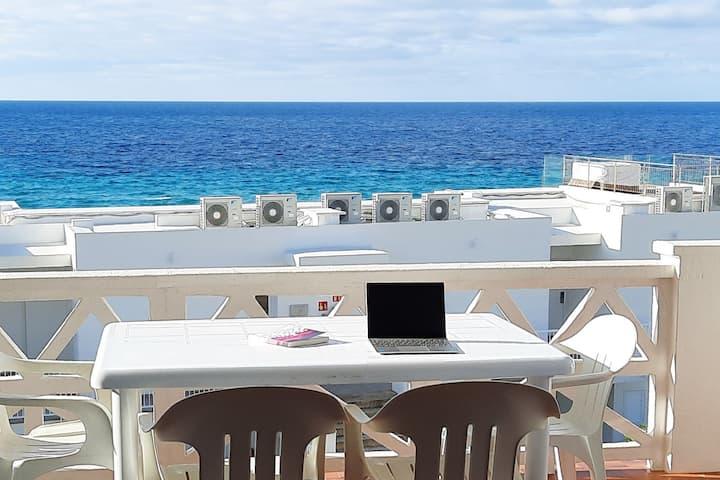 Vistas al mar, piscina, a 5 min de Binigaus