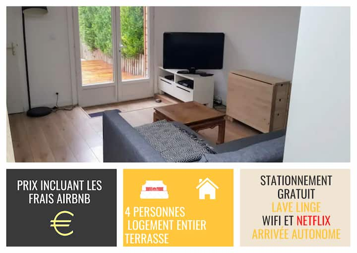 FleuryTerre - Large 2 room apartment with terrace