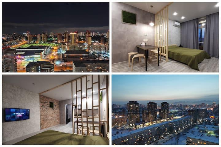 NEW! Апартаменты Sibkvart 22 этаж, Кошурникова 22