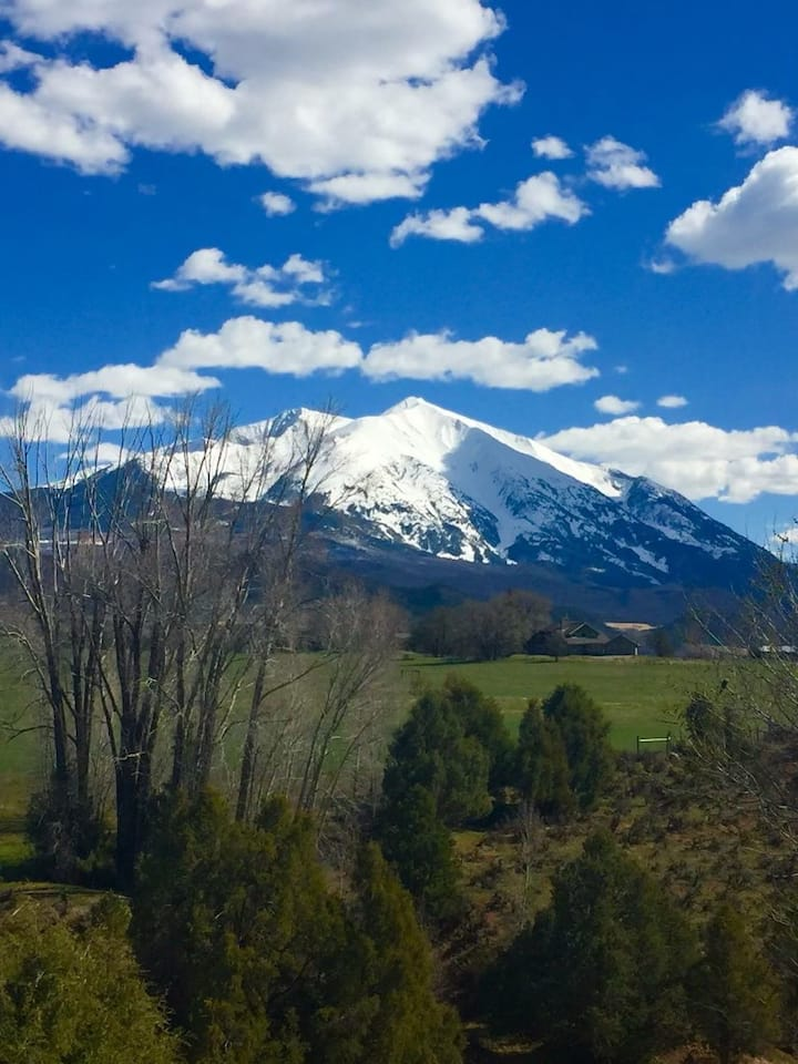 Best views of Sopris Mtn on a working family ranch