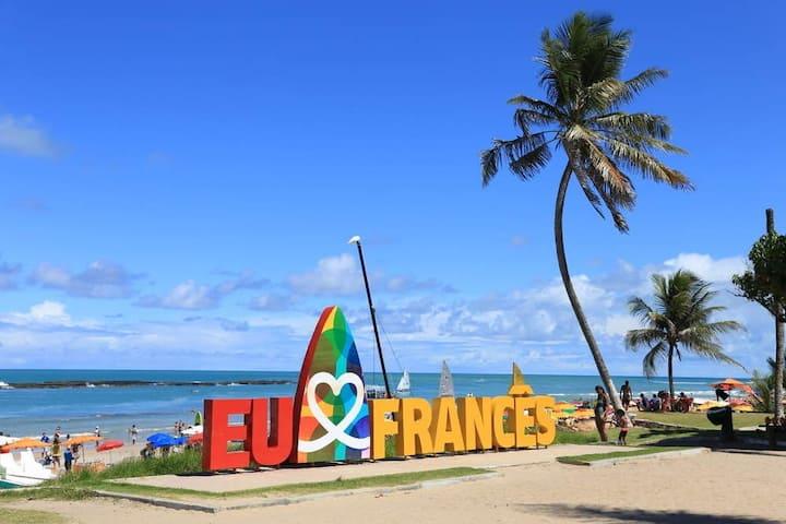 Loft pé na aréia (Praia do Francês)