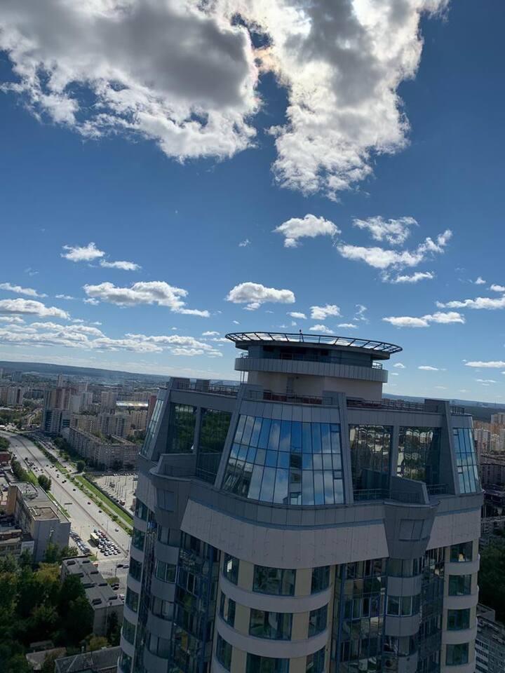 14 февраля на крыше небоскреба