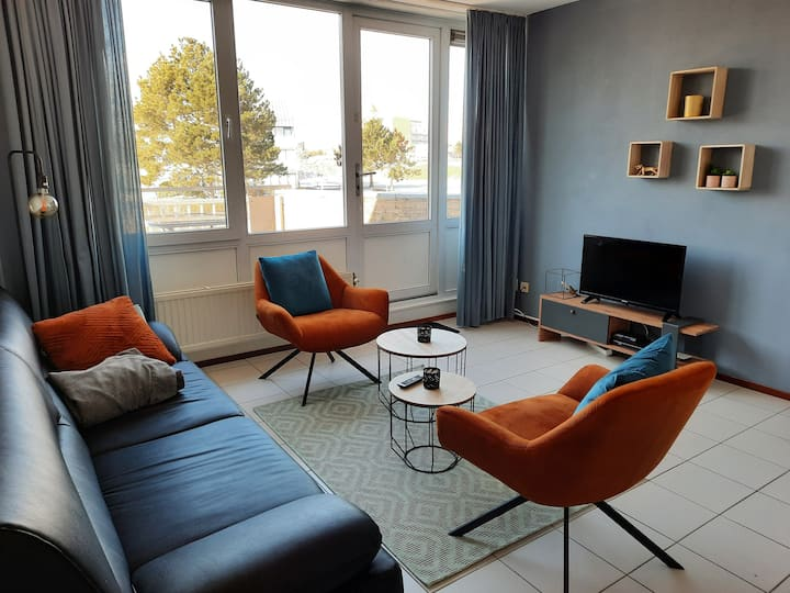 Duplex-appartement op een toplocatie in Cadzand