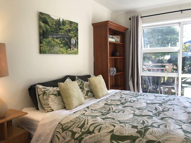 Bedroom 1 showing sliding door to porch