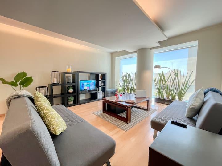 Amplio apartamento 3 recámaras en zona turística
