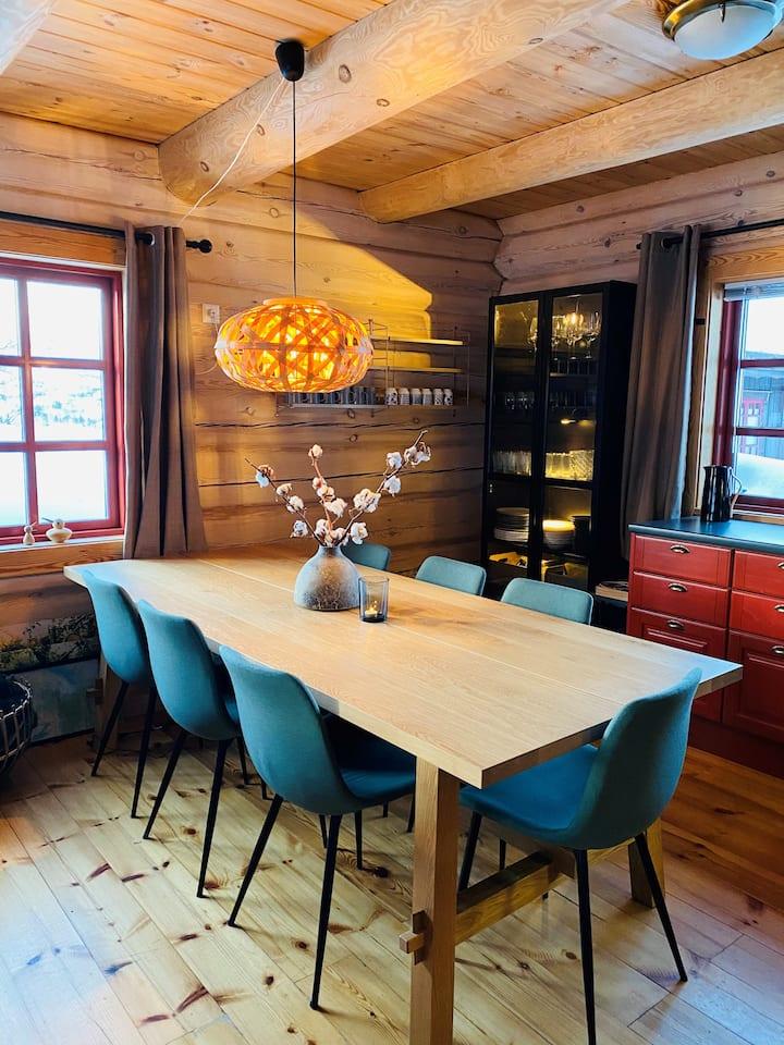 Flott laftet hytte på Vågsli. Ski inn/ut. Jacuzzi