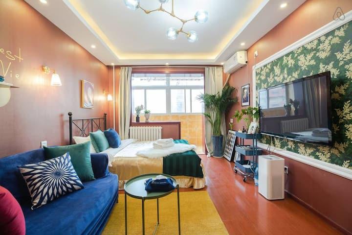 「维多利亚公寓」 复古法式浪漫COZY|神秘拍照间|50㎡南向正一居|三里屯|国贸|CBD|团结湖