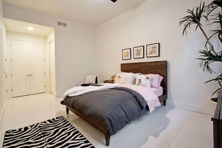 One of the four bedrooms