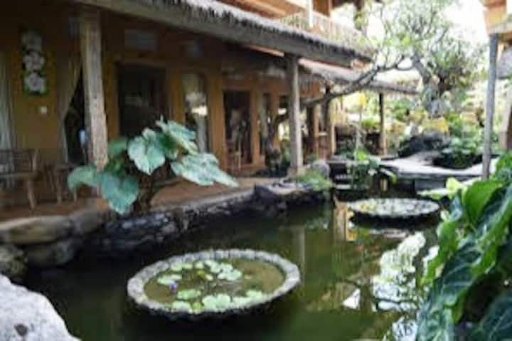 #Homestay with Balinese style w/AC,TV-breakfast