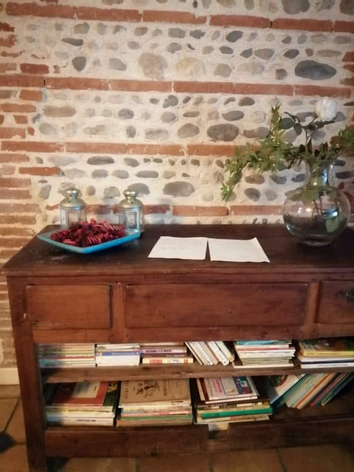 Chambre spacieuse en rez de jardin