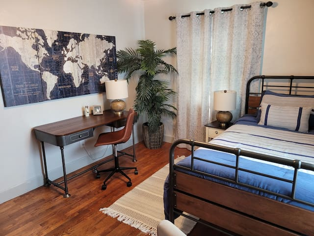 2nd Bedroom with desk area for working away from home and recliner for relaxing
